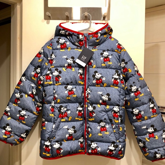 DISNEY Boys Sherpa Lined~Hooded~Full Zip MICKEY MOUSE JACKETS~Size XS~S~M~L~XL